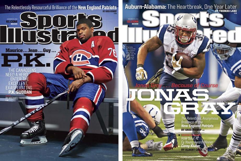 Les couvertures des éditions canadienne et américaine du...