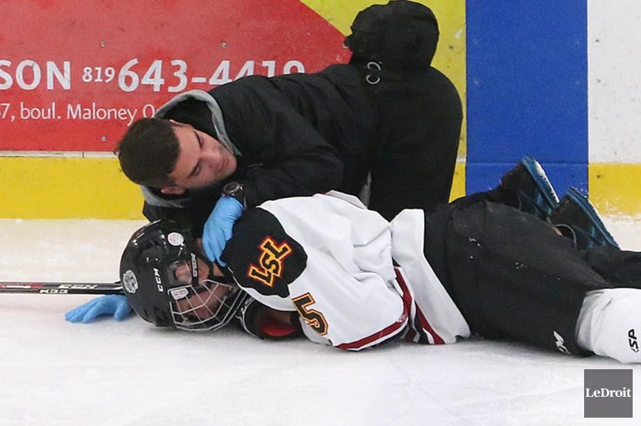 Selon les neurologues québécois, seuls les hockeyeurs élite... (Photo Patrick Woodbury, archives Le Droit)