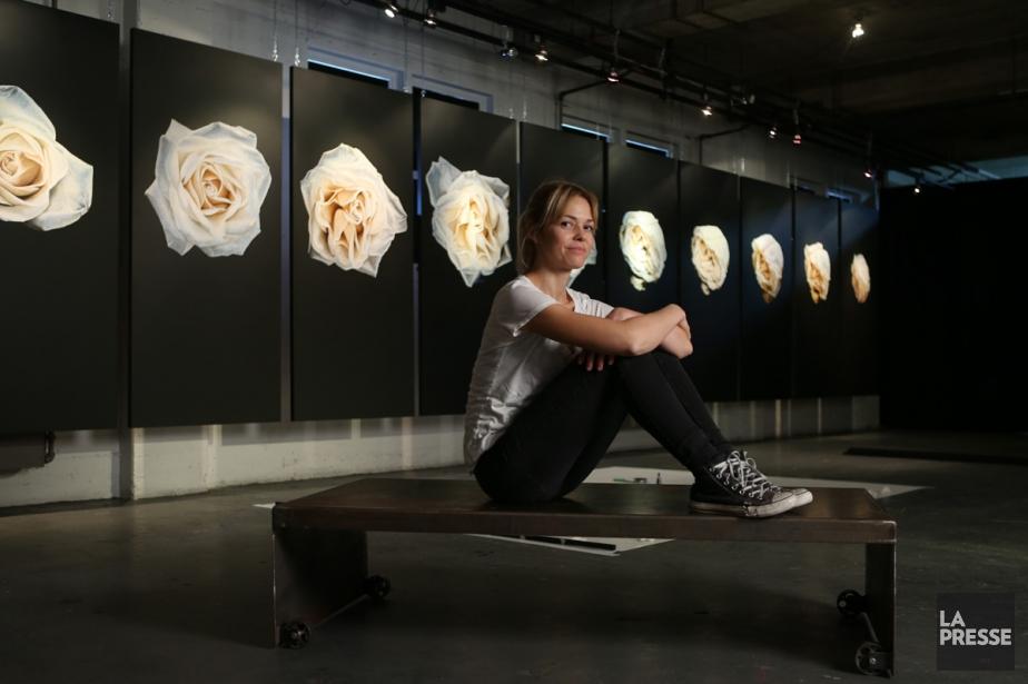 Marie-Hélène Sirois allie peinture et musique à l'exposition... (Photo: Martin Chamberland, La Presse)