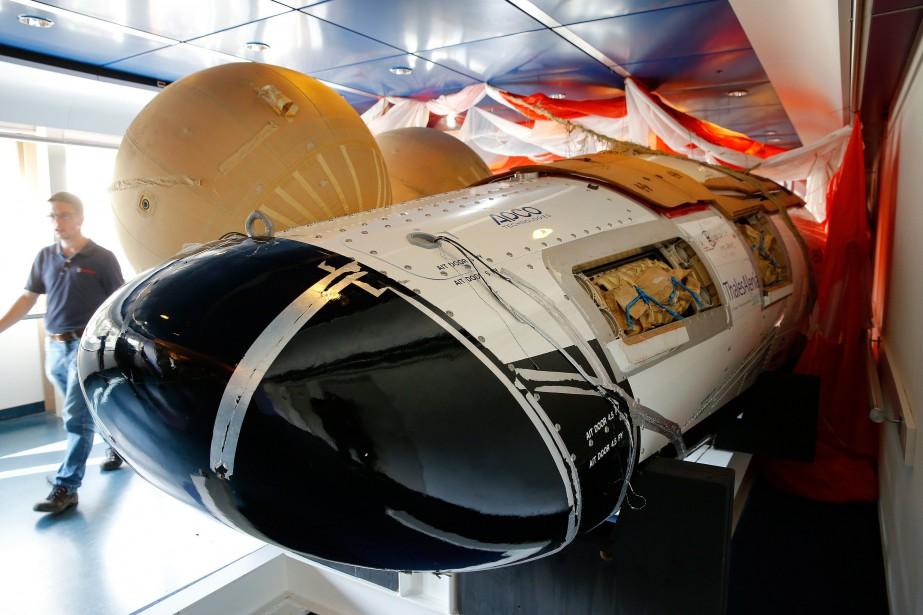 Une réplique du vaisseau IXV... (PHOTO AFP/ANP BAS CZERWINSKI)