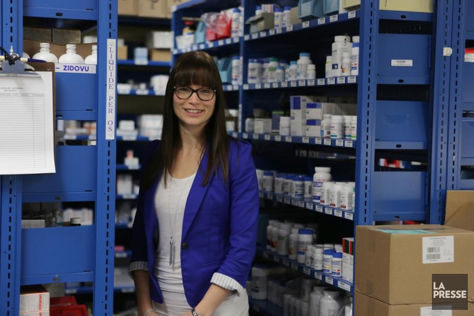 Françoise Dubé, 33 ans, est pharmacienne à l'hôpital... (Photo Martin Chamberland, La Presse)