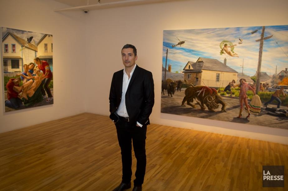 L'artiste torontois Ken Monkman.... (Photo: André Pichette, La Presse)