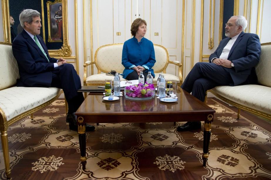 Les grandes puissances du «5+1» (Chine, États-Unis, France,... (Photo Carolyn Kaster, AP)