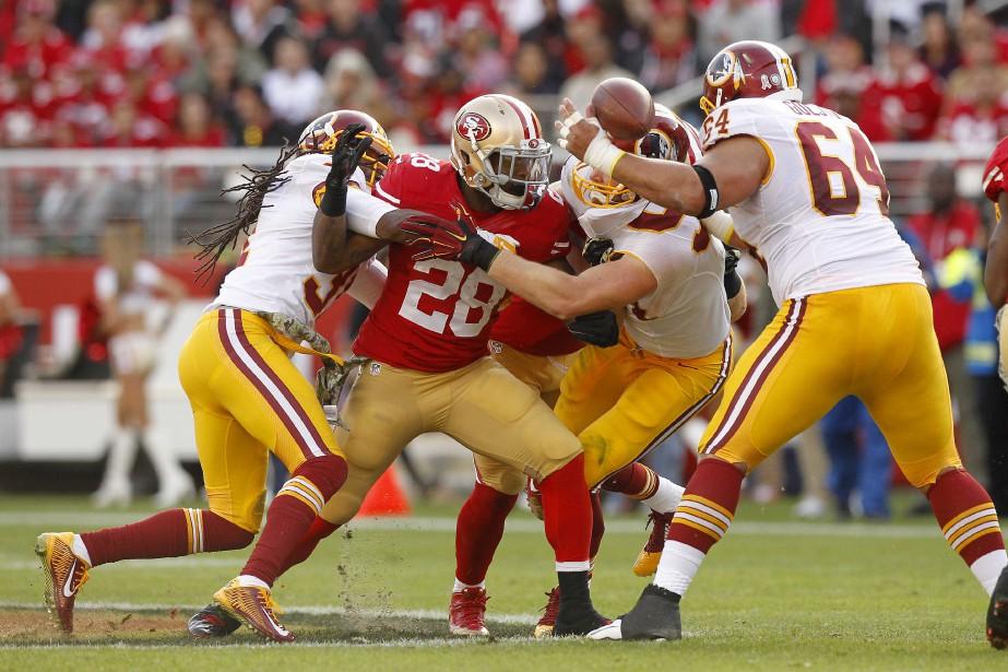 Carlos Hyde a inscrit un touché sur... (Photo Cary Edmondson, USA TODAY Sports)