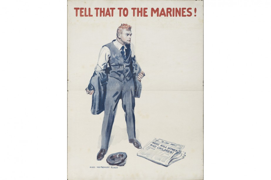 Montgomery Flagg, Tell That to the Marines!, vers... (Photo: Denis Farley, fournie par le MbaM)