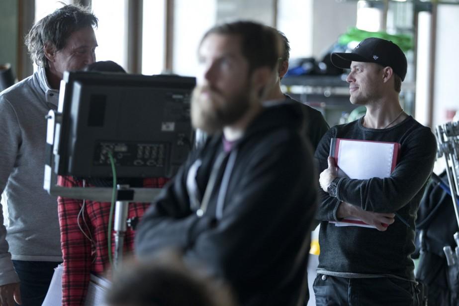 <strong>14h: CHALET DU MONT-ROYAL</strong> :L'équipe du <em>Bye Bye</em> s'affaire sur le plateau de tournage. Louis Morissette est sur place à titre de producteur. (Photo: François Roy, La Presse)