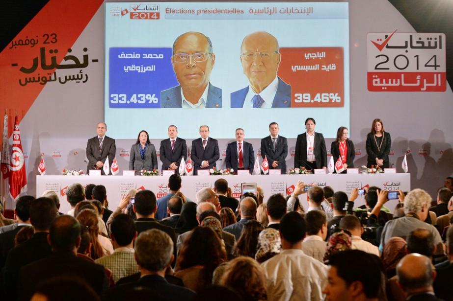 Comme prévu, l'ex-premier ministre Béji Caïd Essebsi est... (PHOTO FADEL SENNA, AFP)