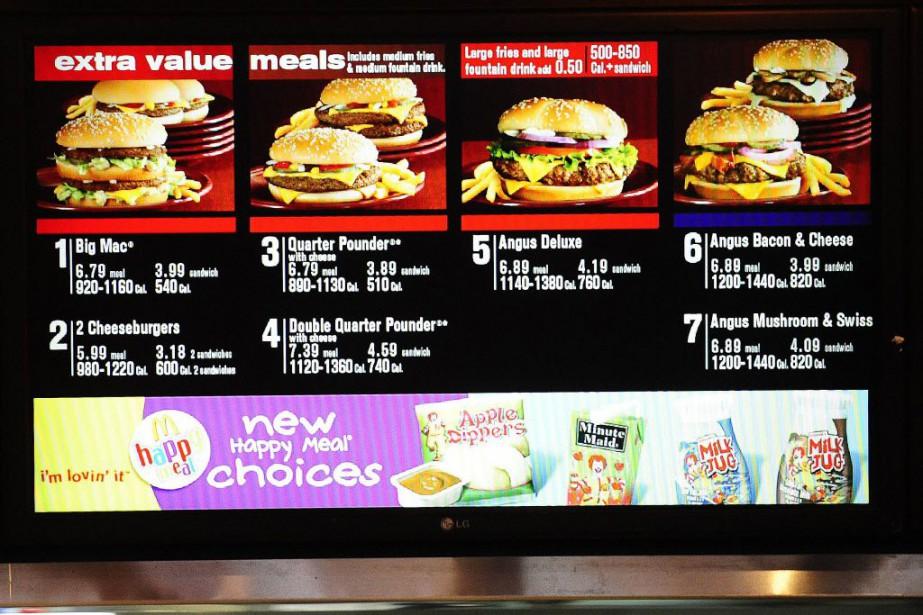 Plusieurs chaînes de restauration rapide, dont notamment McDonald's... (PHOTO Emmanuel Dunand, Archives AFP)