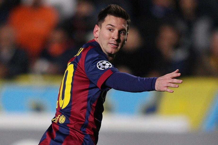 Lionel Messi a marqué les 72e et 73e... (Photo Sakis Savvides, AFP)