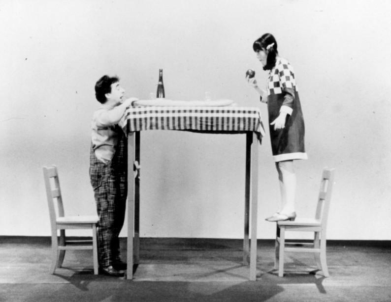 Paul Buissonneau a joué dans le film Dimensions, en 1966, avec Louise Latraverse. (Archives La Presse)