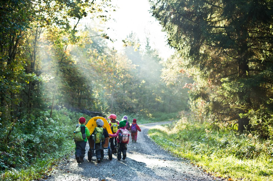 Ouverte depuis 1996, la garderie en forêt de... (Photo Thomas Niedermüller, collaboration spéciale)