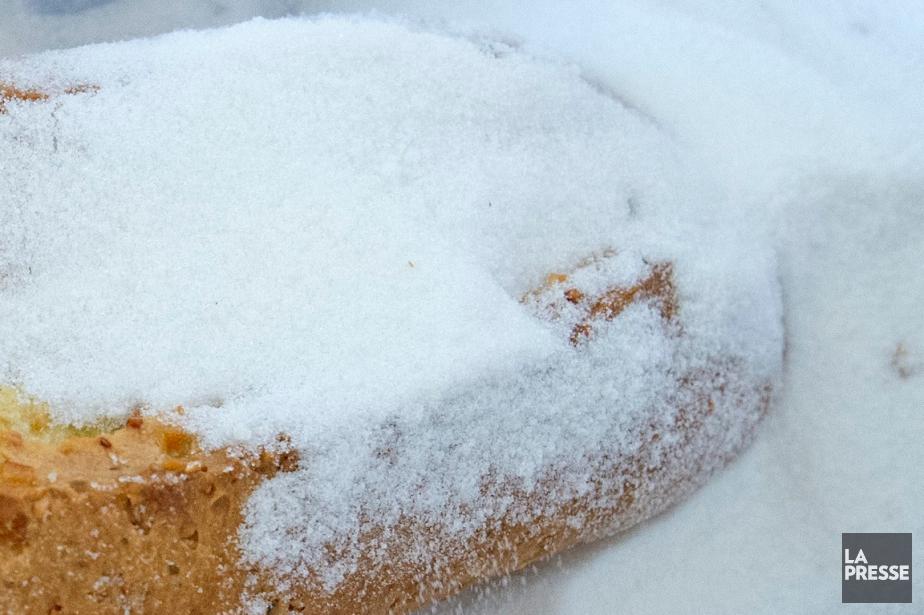 Une enveloppe de sucre vanillé destiné à des biscuits... (Photo Jens Meyer, AP)