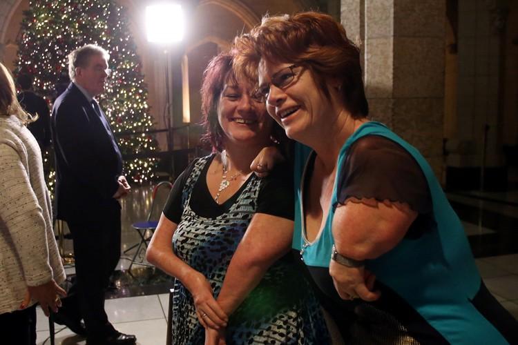 Les victimes de la thalidomide demandaient un soutien... (Photo: PC)