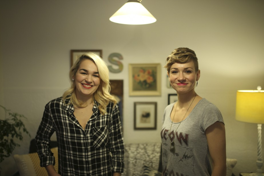 Camille Savoie (à gauche) et Anne-Marie Savoie sont les deux soeurs derrière The Blondy Shop. (Photo Martin Chamberland, La Presse)