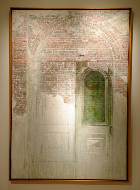 <em>Porte condamnée</em> (1987), acrylique et crayon sur toile (Le Soleil, Erick Labbé)