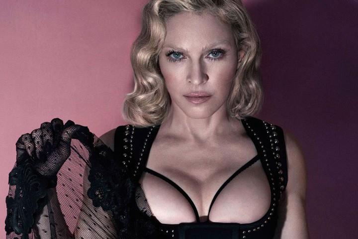 Madonna... (Photo tirée du magazine Interview)