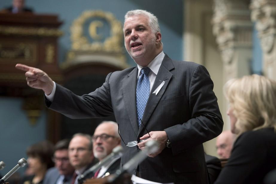 Le premier ministre Philippe Couillard.... (PHOTO JACQUES BOISSINOT, LA PRESSE CANADIENNE)