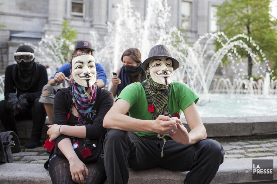 Cinq manifestations ont été déclarées illégales en 2013... (PHOTO ARCHIVES LA PRESSE)