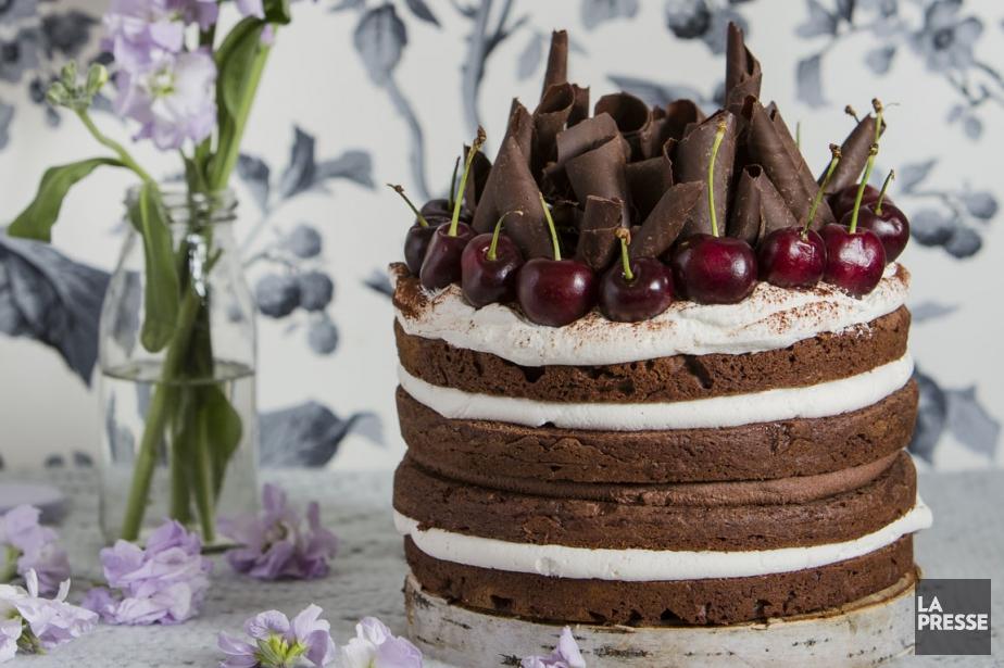 Gâteau forêt-noire  Ève Dumas  Recettes