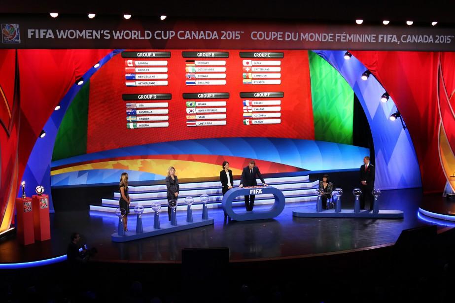 La tableau final des groupes de la prochaine Coupe du monde de soccer féminin. (Patrick Woodbury, LeDroit)