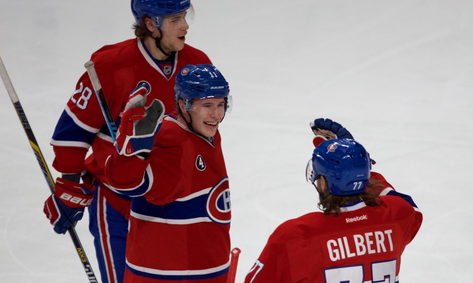 Brendan Gallagher a procuré l'avance aux Canadiens en 2e période. (André Pichette, La Presse)