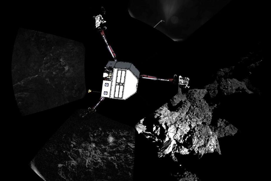 Le robot européen Philae qui s'est posé en novembre sur la... (Photo Reuters)