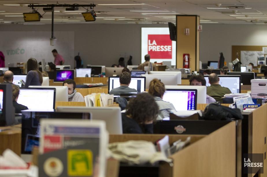 La salle de rédaction de La Presse.... (PHOTO OLIVIER PONTBRIAND, ARCHIVES LA PRESSE)