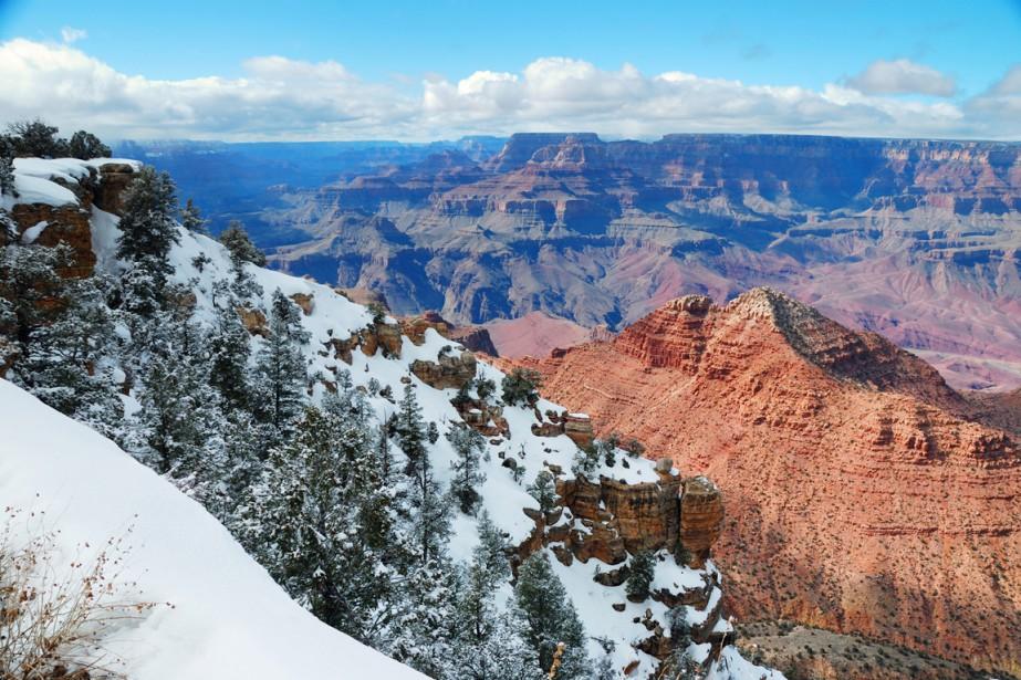 Le Grand Canyon en hiver, c'est magique.... (Photo Digital/Thinkstock)