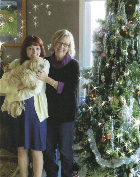 Elizabeth May avec sa fille Cate. (La Presse Canadienne)
