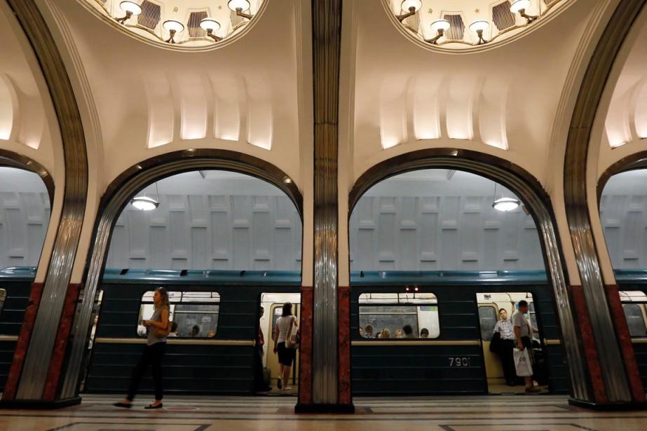 Ouvert en 1935 sous Staline, le métro de... (Photo Lucy Nicholson, archives Reuters)