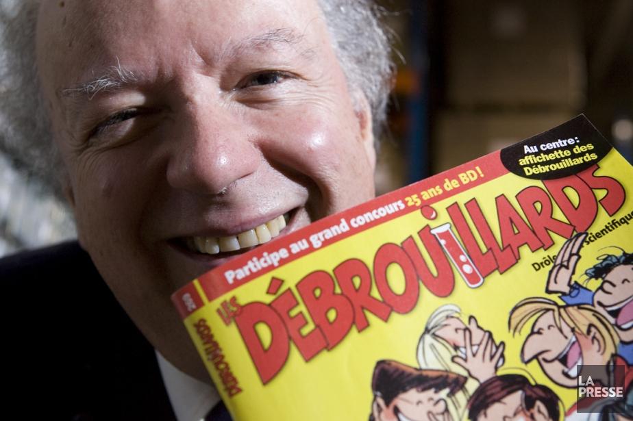 L'éditeur des Publications PLD, Félix Maltais, derrière Les... (Photothèque La Presse)