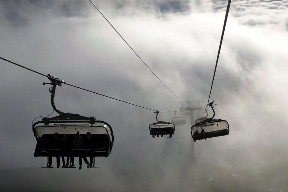 De la neige pour Noël. À quelques jours des vacances,... (Photo Jerome Delay, AP)