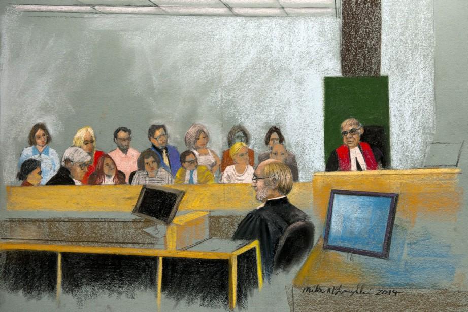 Le juge Guy Cournoyer donne des instructions au... (IMAGE LA PRESSE CANADIENNE)