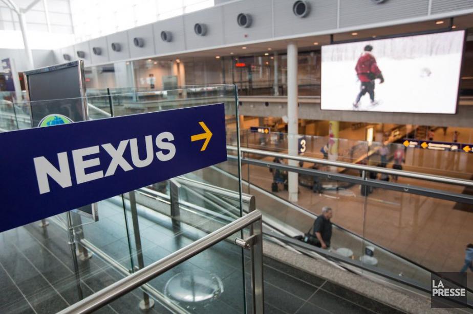 Le programme NEXUS, qui permet aux voyageurs dignes... (Photo EDOUARD PLANTE-FRECHETTE, archives LA PRESSE)