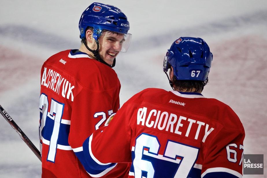 Avec trois points chacun, Alex Galchenyuk et Max... (Photo André Pichette, archives La Presse)