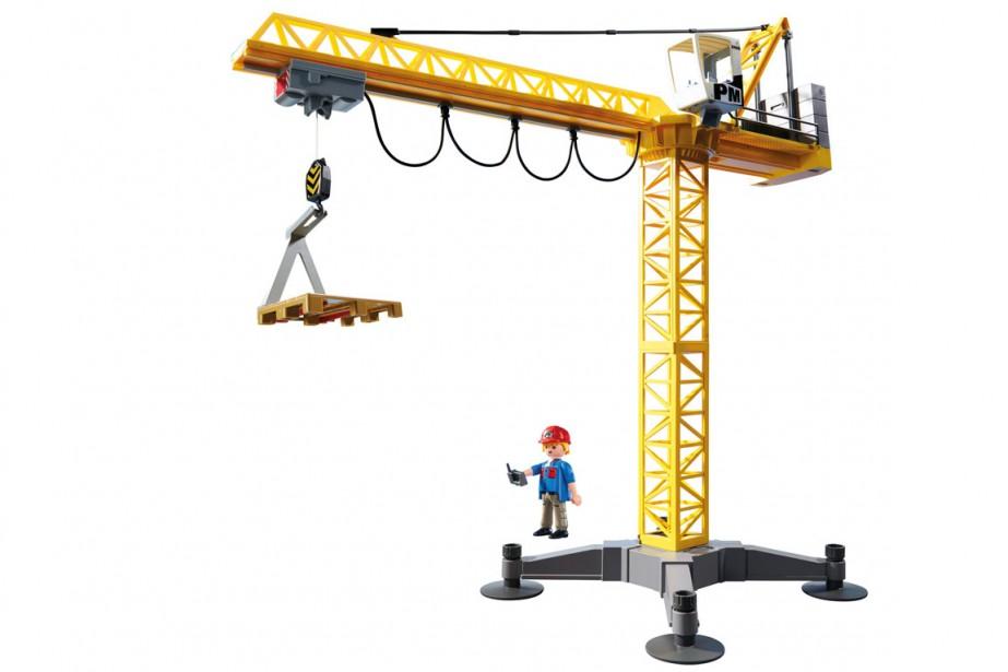 Grande grue de chantier, ensemble 5466, Playmobil, 106$... (Photo fournie par le fabricant)