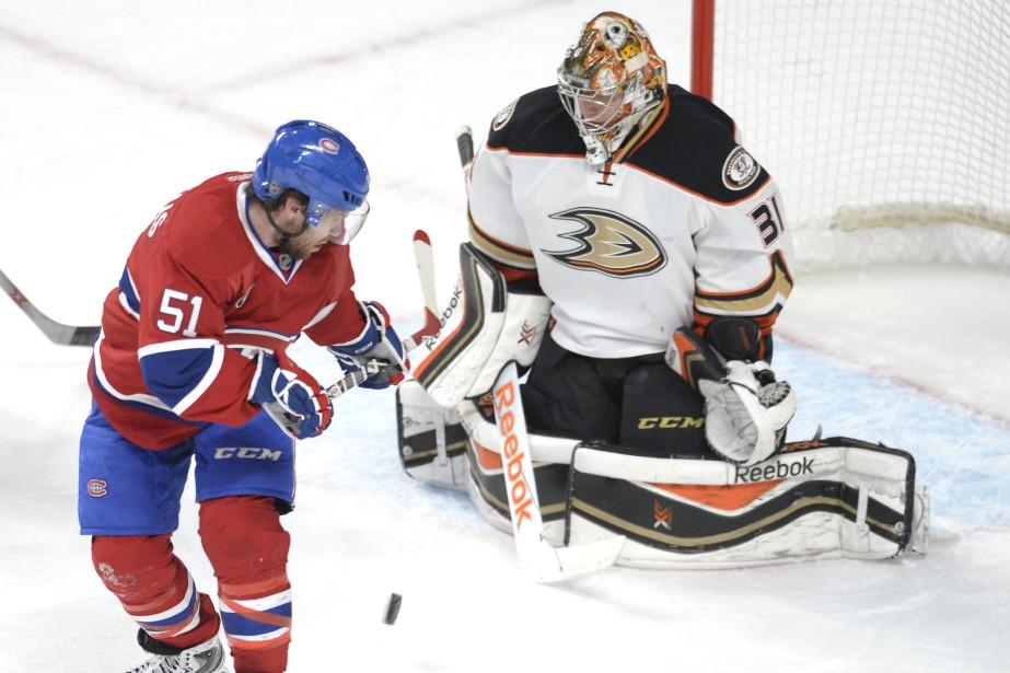 Le Canadien s'est heurté à un mur en première période. (Photo Bernard Brault, La Presse)