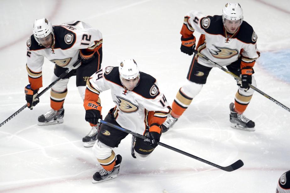 Les Ducks ont démontré leur rapidité. (Photo Bernard Brault, La Presse)