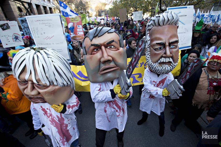 « Pourquoi tant d'opposants à l'austérité sombrent-ils dans... (photo Patrick Sanfacon, archives La Presse)