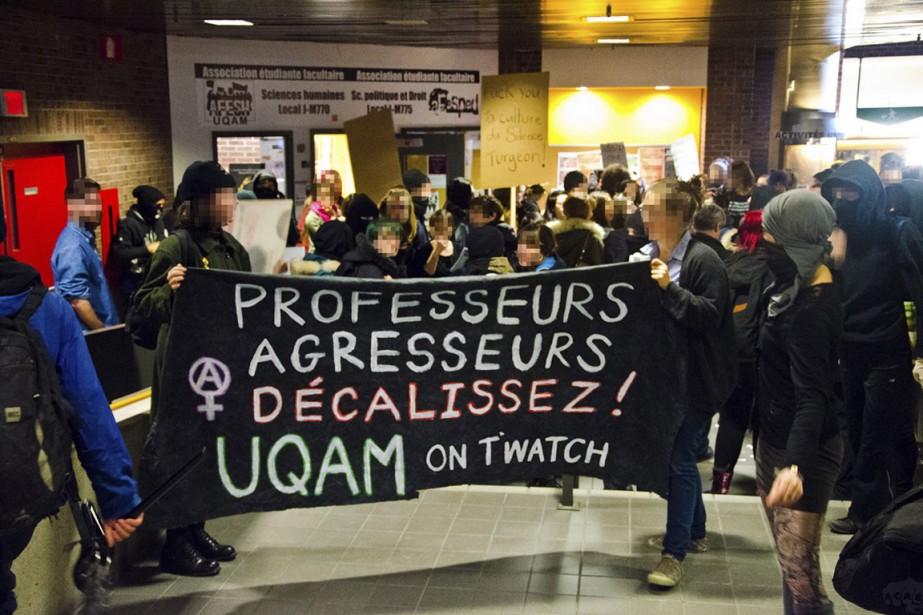 Le 20 novembre dernier, une manifestation a eu... (Photo tirée de Facebook)