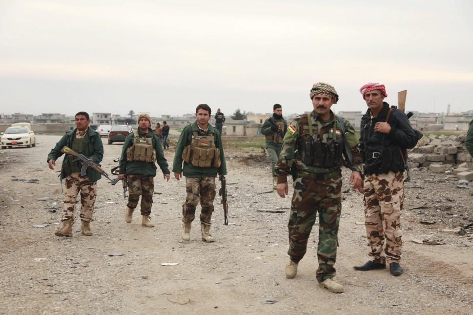 Des soldats kurdes.... (Photo Ari Jalal, archives Reuters)