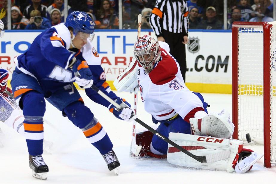 Le gardien de Montréal a eu de nombreux tirs à repousser. (Photo USA Today Sports)