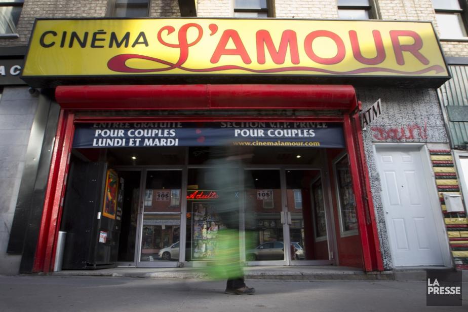 L'édifice du cinéma L'Amour, qui s'est tour à... (PHOTO IVANOH DEMERS, LA PRESSE)