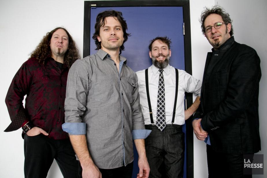 Les membres du groupe tard Le Vent du... (PHOTO DAVID BOILY, LA PRESSE)