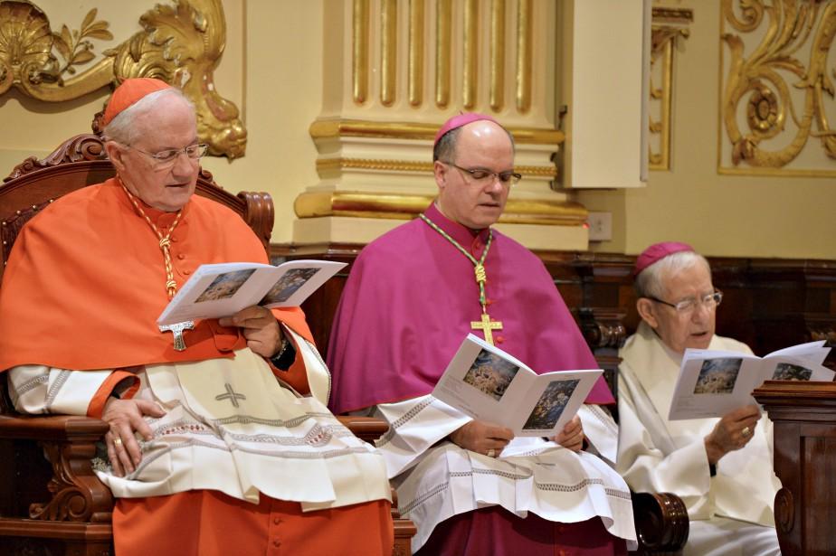 Le cardinal Marc Ouellet était de la cérémonie de clôture de la porte sainte, et par le fait même des festivités. (Le Soleil, Pascal Ratthé)