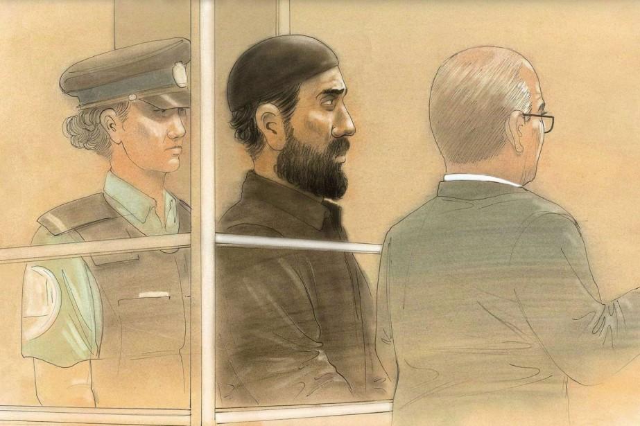 Raed Jaser lors de sa comparution en avril... (Illustration archives AFP)