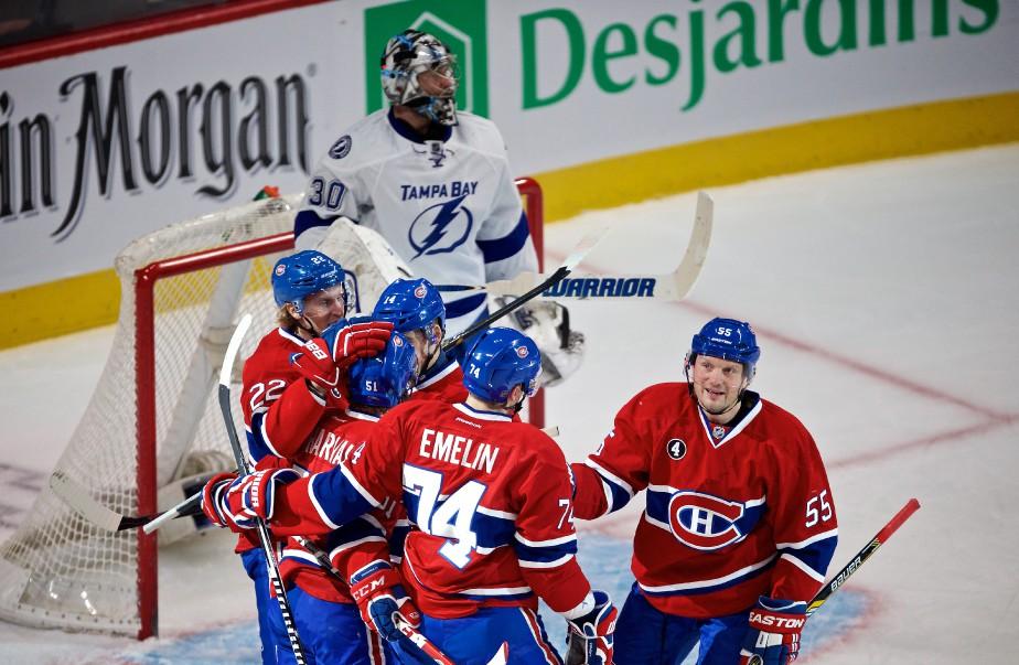Le Canadien a ouvert la marque en 1re période, mais ça s'est gâté par la suite. (André Pichette, La Presse)