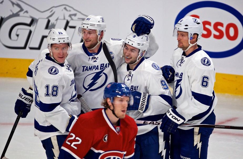 Le Lightning a inscrit quatre buts sans riposte en 2e période. (André Pichette, La Presse)