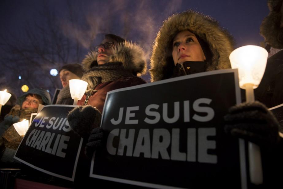 Lers Montréalais s'étaient déjà réunis mercredi soir pour... (Photo La Presse Canadienne)
