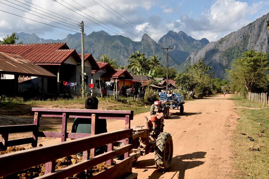 Vang Vieng et ses villages environnants offrent une immersion totale dans la vie des Laotiens. (PHOTO ÉLYSE LÉVESQUE, COLLABORATION SPÉCIALE)